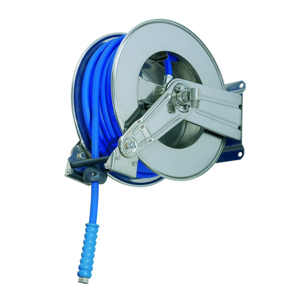 AV1100 BK - Hose Reels with Slow Retraction System
