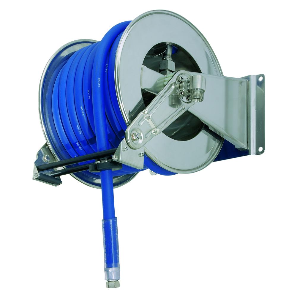 AV1300 BK - Hose Reels with Slow Retraction System