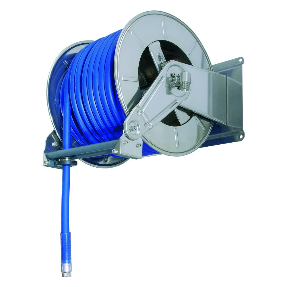 AV6001 BK - Hose Reels with Slow Retraction System