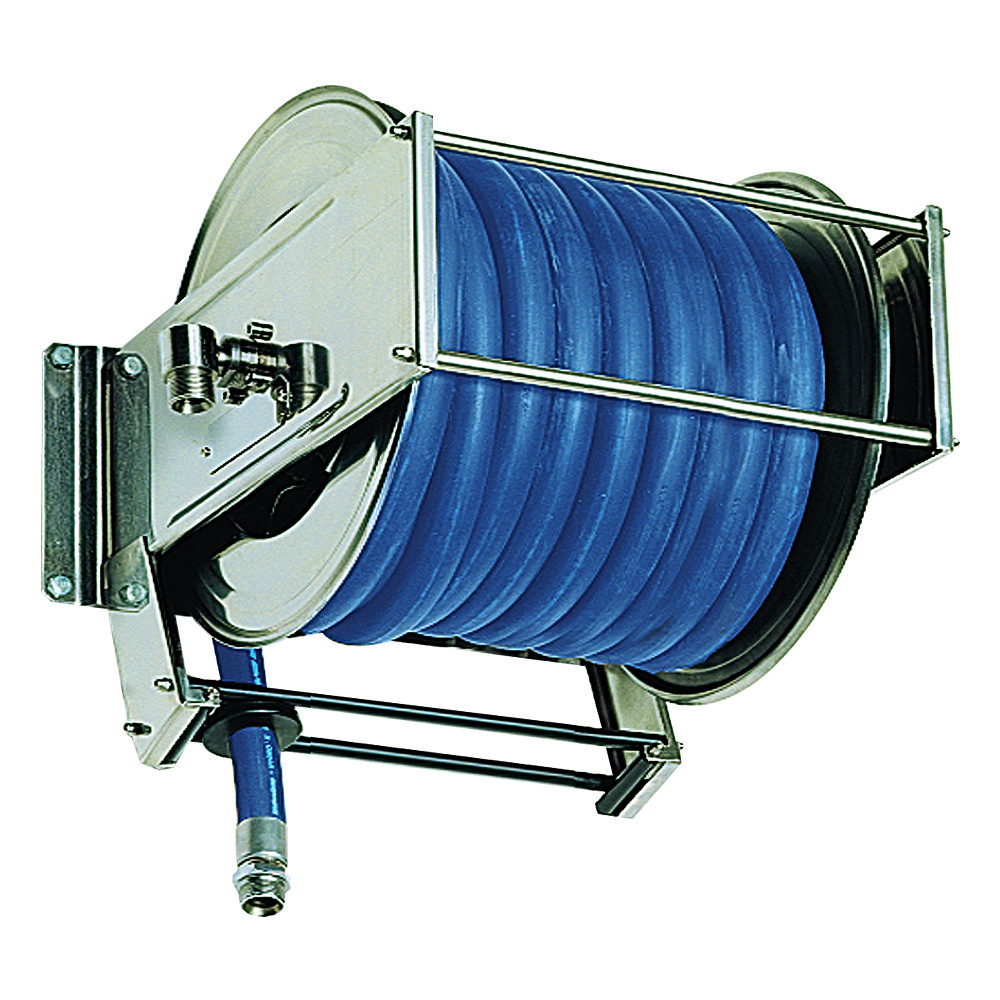AV5000 BK - Hose Reels with Slow Retraction System