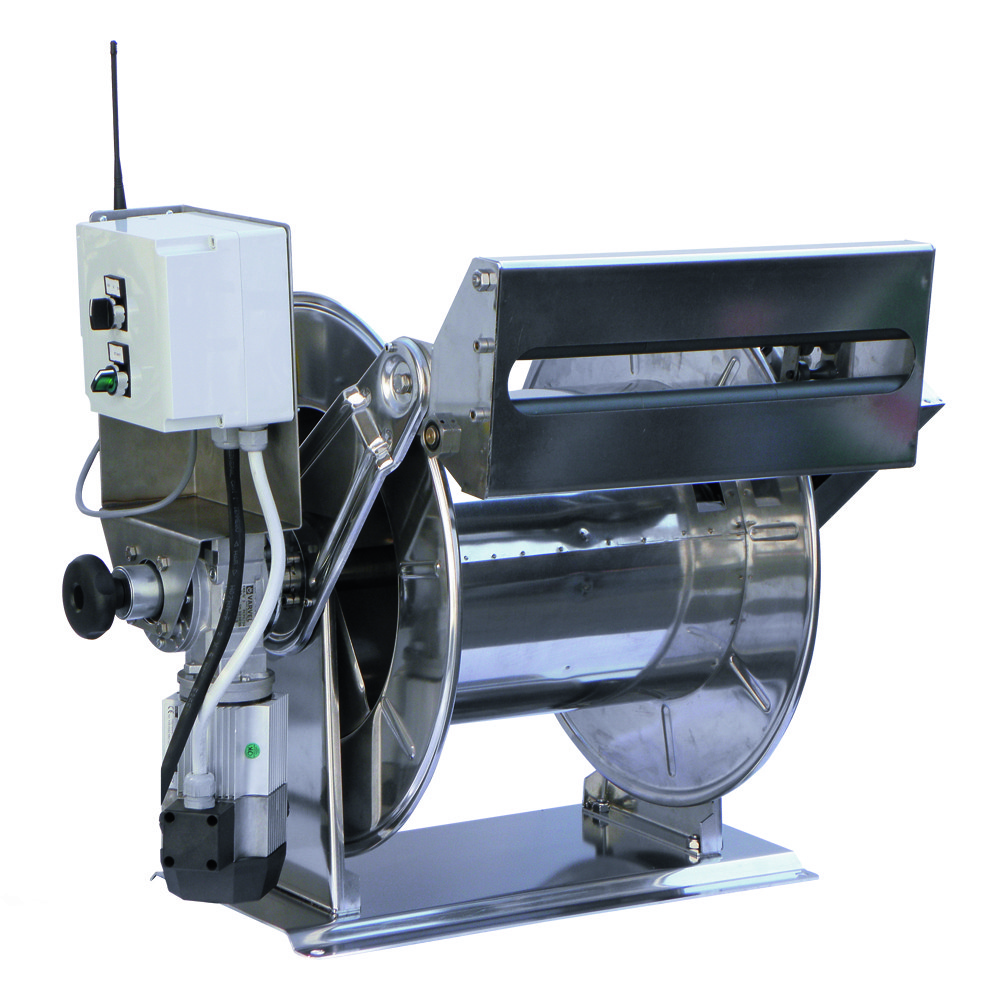 AVEK 1 S - Electric Motor Driven hose reels (12 V - 24 V - 230 V - 400 V)